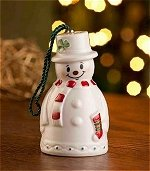 Snowman with Stocking Bell Ornament