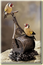 Goldfinches on Mower