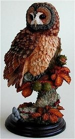 Tawny Owl and Chestnuts