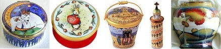 Halcyon Days Enamel Boxes and More