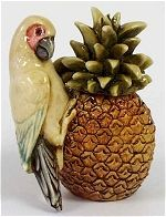 Parrot on Pineapple