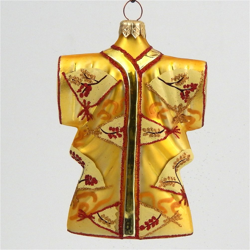 Asian christmas ornaments - Floral Gold Kimono