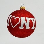 I Love New York White on Red