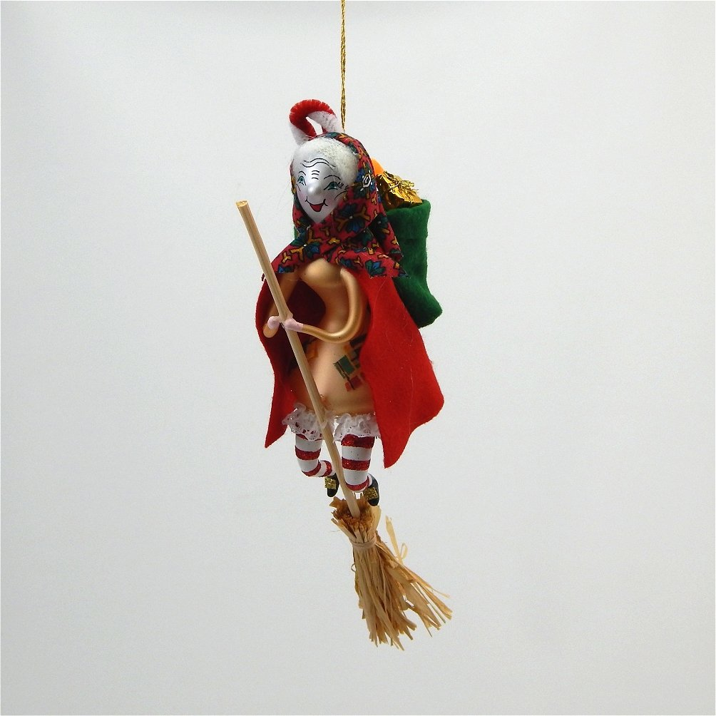 befana de carlini glass ornament - Italian Christmas Ornaments