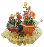 Flowers and Flowerpots  - Greeting Card