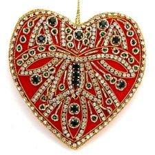 Zardozi heart ornaments